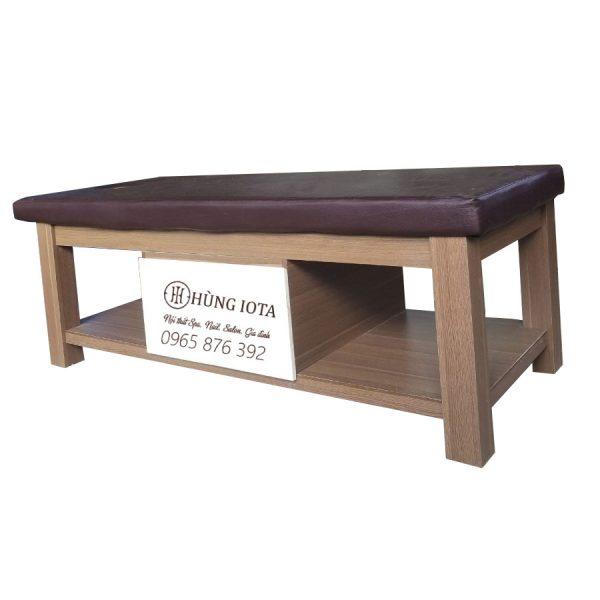 Giường Spa gỗ phủ min cao cấp GSCT03