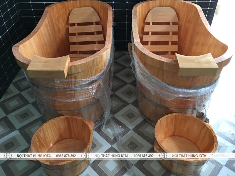 Bồn ngâm massage và chậu ngân chân massage giá rẻ tại spa Hà Tĩnh