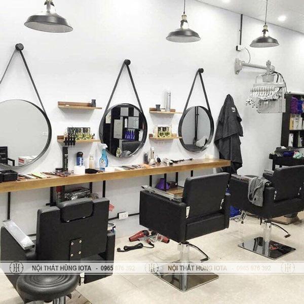 Gương cắt tóc tròn giá rẻ tại Nội thất Salon tóc Hùng Iota