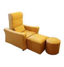 Ghế foot massage màu vàng GFM02 chất da