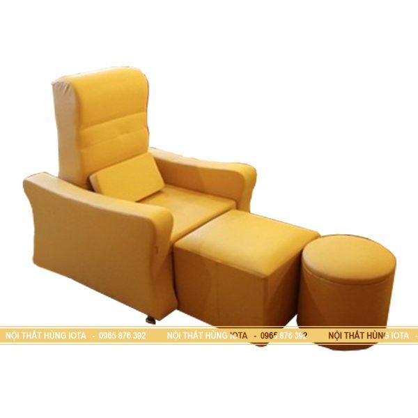 Ghế foot massage chất da màu vàng