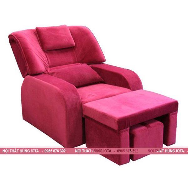 Ghế foot massage chân spa nâng điện màu hồng đỏ giá rẻ