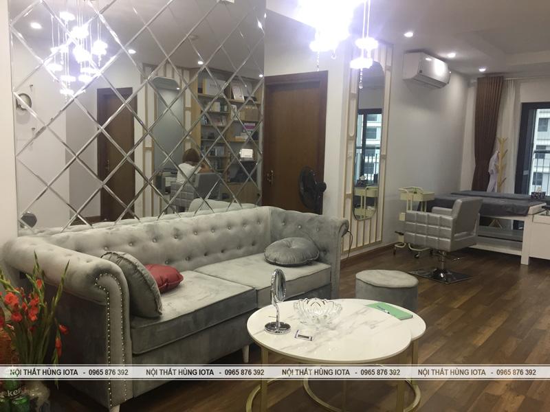 Ghế sofa setup nội thất spa ở chung cư Celine Spa