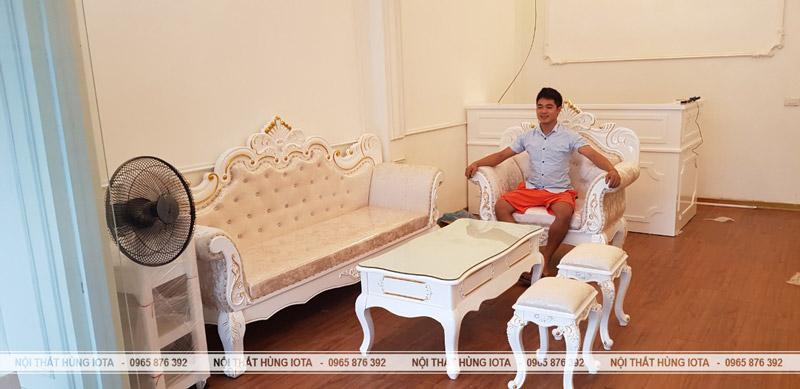 Ghế sofa spa tân cổ điển đẹp giá rẻ - Elysa Beauty & Spa