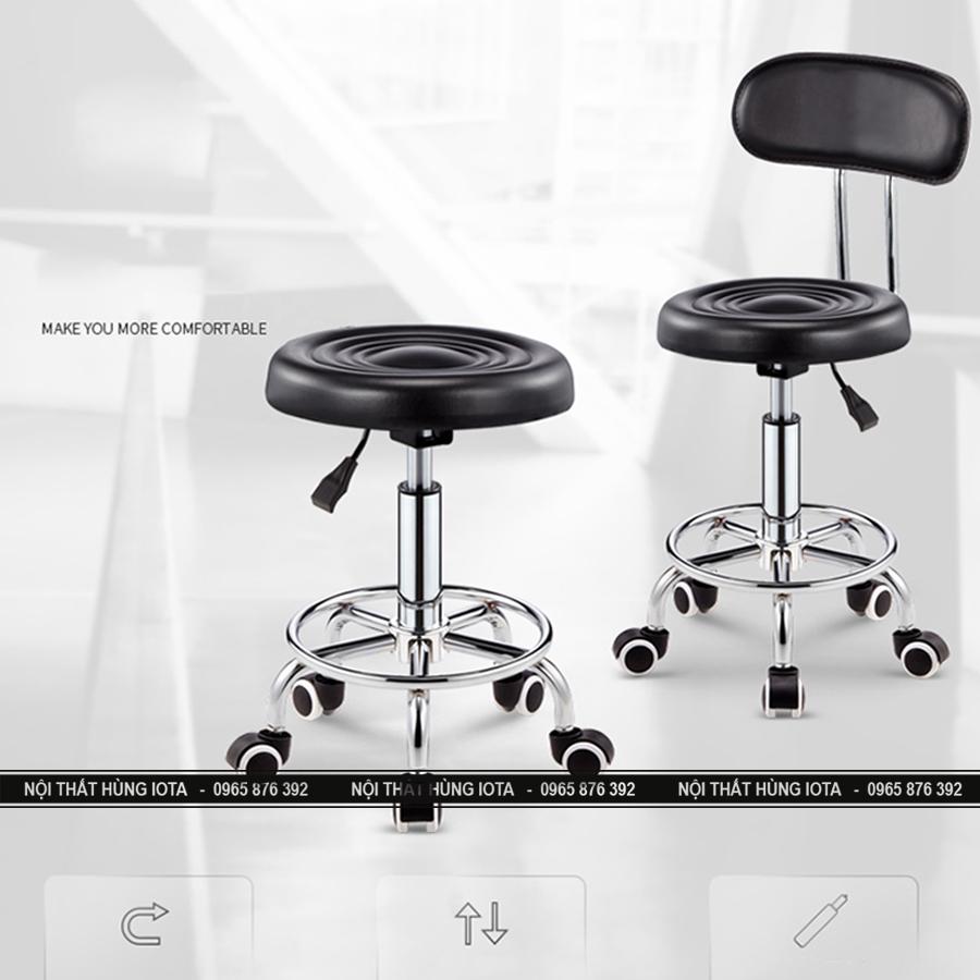 Ghế spa tròn xoay màu đen GKTV04