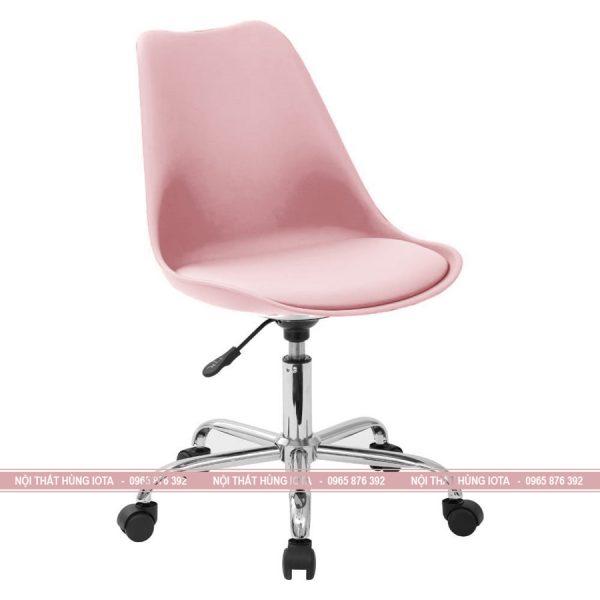 Ghế kỹ thuật viên xoay 360 màu hồng