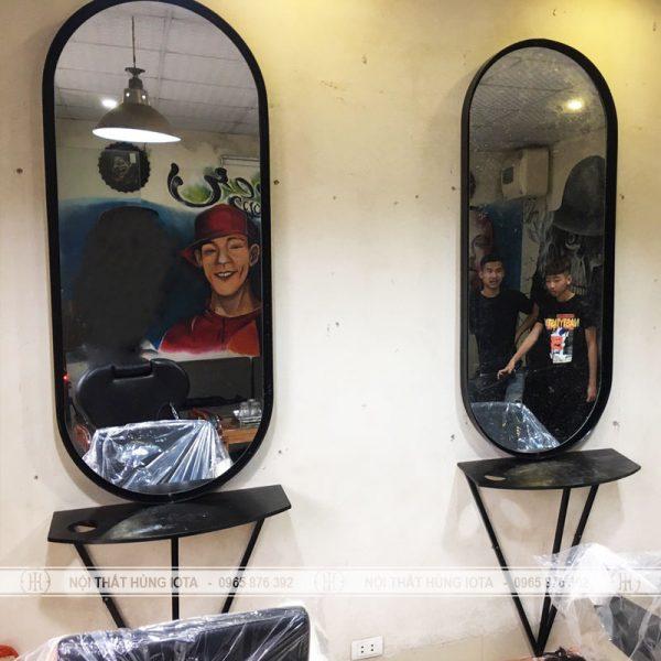 Giương cắt tóc khung sắt đẹp giá rẻ tròn bo góc - Nội thất Salon tóc Hùng Iota