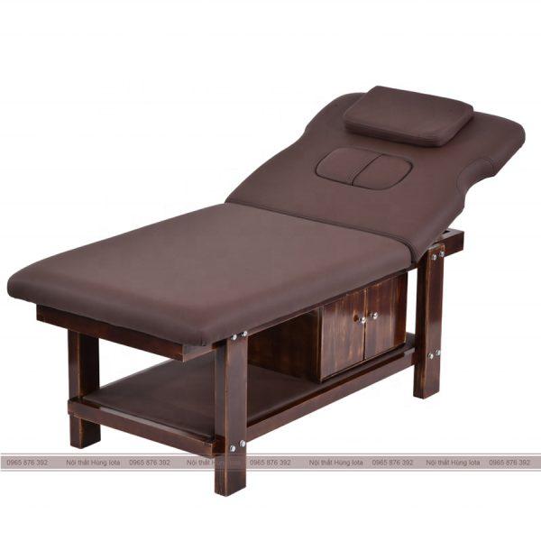 Giướng massage gỗ sồi nâng đầu GS14