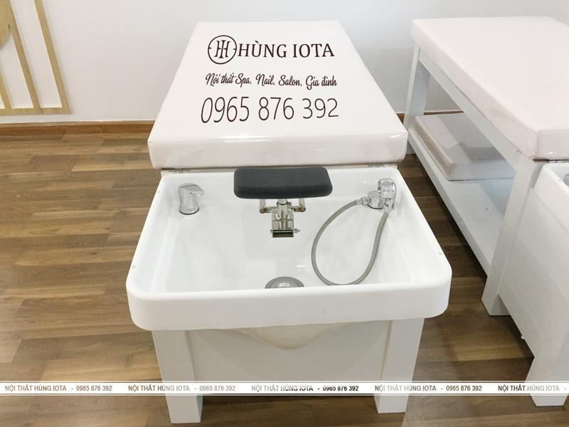 Thi công lắp ráp giường gội đầu massage 2 in 1 GGM01 - Nội thất Hùng Iota