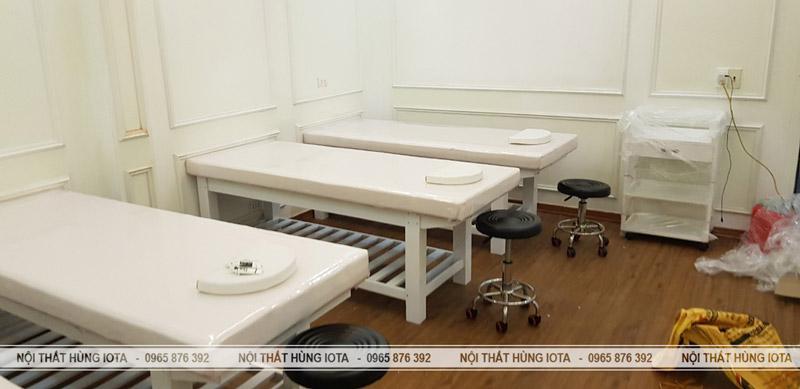 Giường spa gỗ đẹp giá rẻ Elysa Beauty & Spa