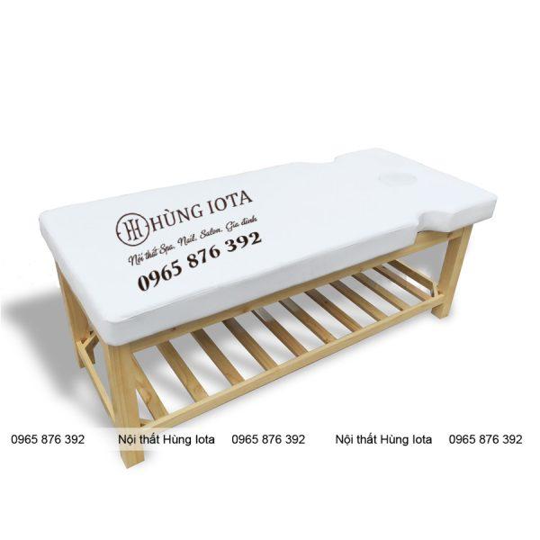 Giường spa gỗ sồi khoét tay mặt GS09 giá rẻ