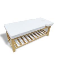 Giường spa gỗ sồi khoét tay mặt GS09
