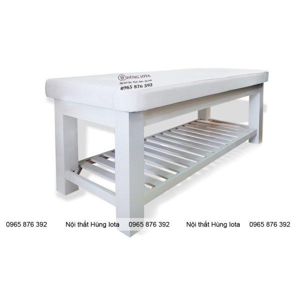Giường spa gỗ sồi trắng GS08 giá rẻ