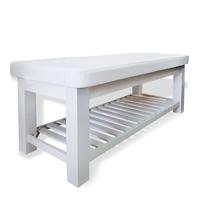 Giường spa gỗ sồi màu trắng GS08