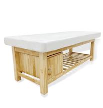 Giường spa gỗ thông có tủ GS05