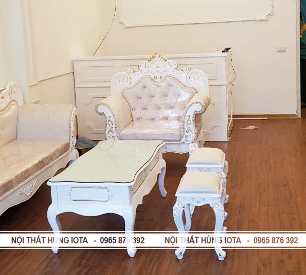 Lắp đặt quầy thu ngân spa và ghế sofa spa tân cổ điển