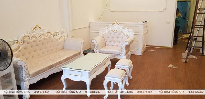 Sofa tân cổ điển đẹp giá rẻ cho spa Elysa Beauty & Spa