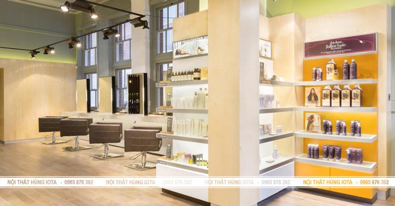 Tủ trưng bày sản phẩm Salon tóc - Nội thất Salon tóc