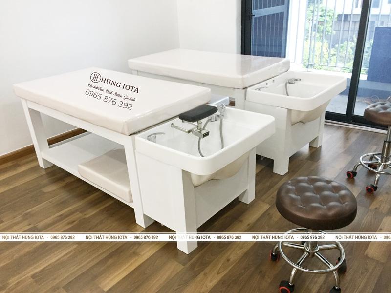 Thi công lắp ráp giường gội massage 2 in 1 GGM01 - Nội thất Hùng Iota