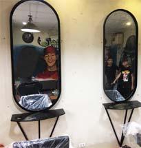 Gương cắt tóc khung sắt GCT02
