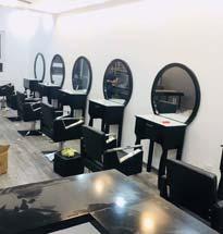 Gương cắt tóc tròn màu xám GCT06