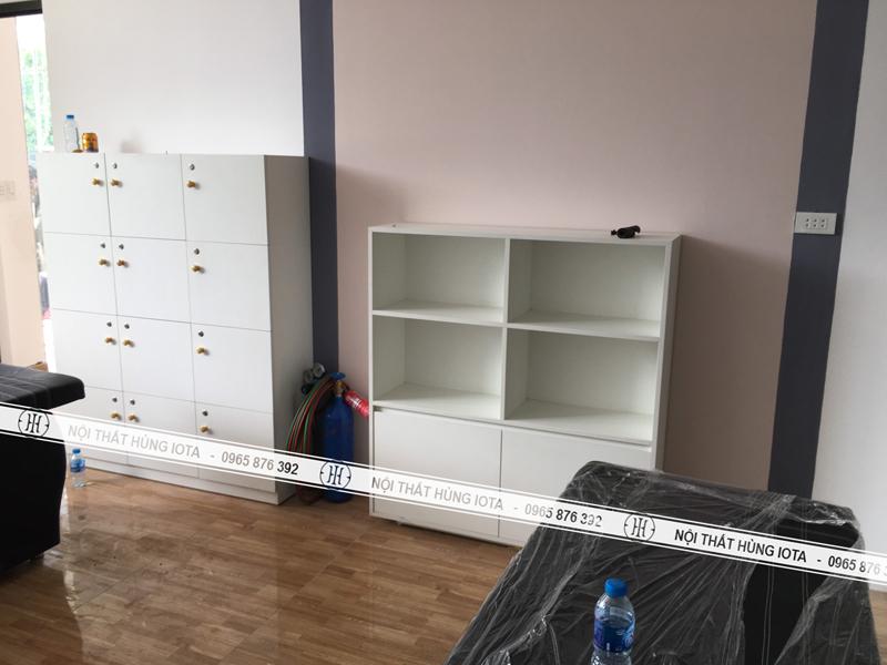 Tủ đựng đồ spa cho nhân viên và cho khách - Tủ đựng khăn spa