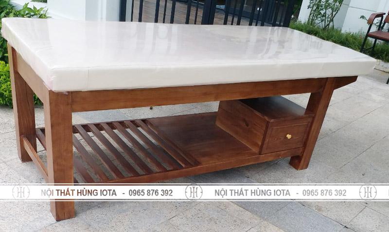 Giường tẩm quất massage body gỗ sồi đẹp giá rẻ