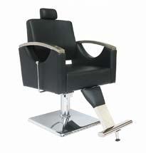 Ghế cắt tóc ngả lưng tay inox GDCT02