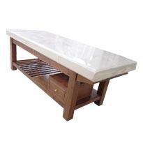 Giường massage gỗ sồi màu nâu GS16