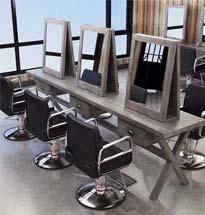 Gương cắt tóc 2 mặt hình vuông GCT10