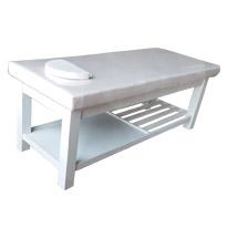 Giường massage sơn trắng nan dọc GS17