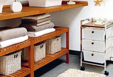 Tủ đựng khăn spa đẹp giá rẻ màu nâu gỗ nhỏ gọn
