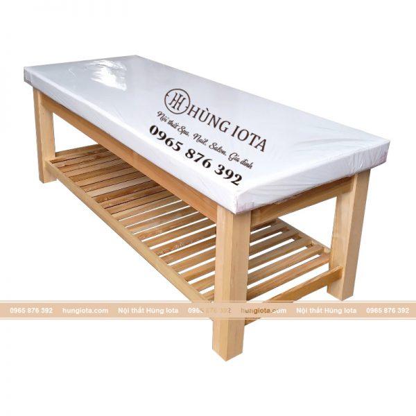 Giường massage body màu gỗ cao cấp
