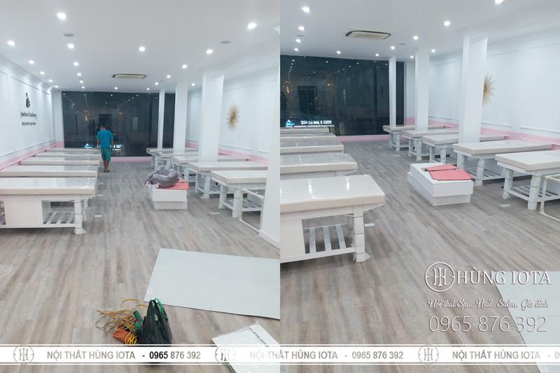 Giường massage body cho Trung tâm chăm sóc sắc đẹp Junhee Hà Nội