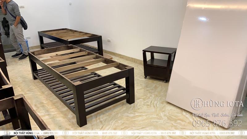 Lắp đặt giường spa, xe đẩy spa thiết kế cho thẩm mỹ viện tại Hà Nội