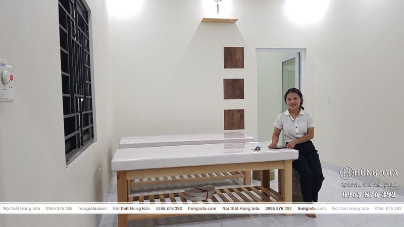 Lắp đặt giường spa maria spa trị liệu ở Quảng Ninh