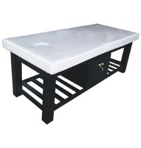 Giường massage body màu đen gỗ spa GS22