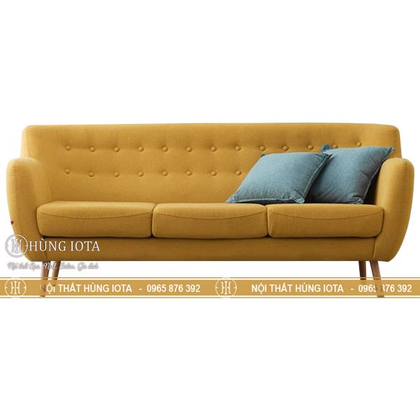 Ghế chờ sofa spa giá rẻ tại xưởng màu vàng chuyên dụng ghế chờ salon tóc, nail, mi