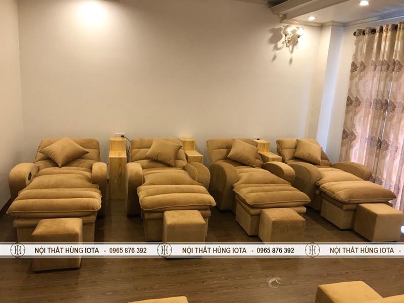 Lắp đặt ghế foot massage cho trung tâm massage trị liệu massage chân
