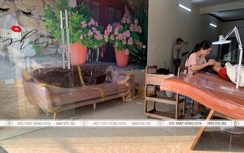 Lắp đặt nội thất mi, nail, spa, sofa tại Hải Dương