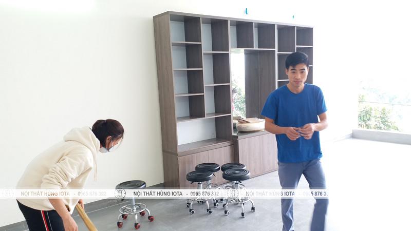 Lắp đặt tủ sản phẩm spa bồn rửa lavabo tại Hà Nam