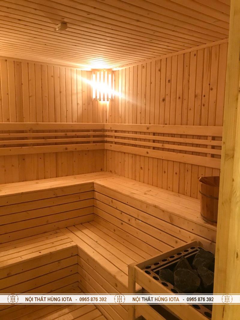 Nội thất phòng xông hơi khô spa cho trung tâm massage
