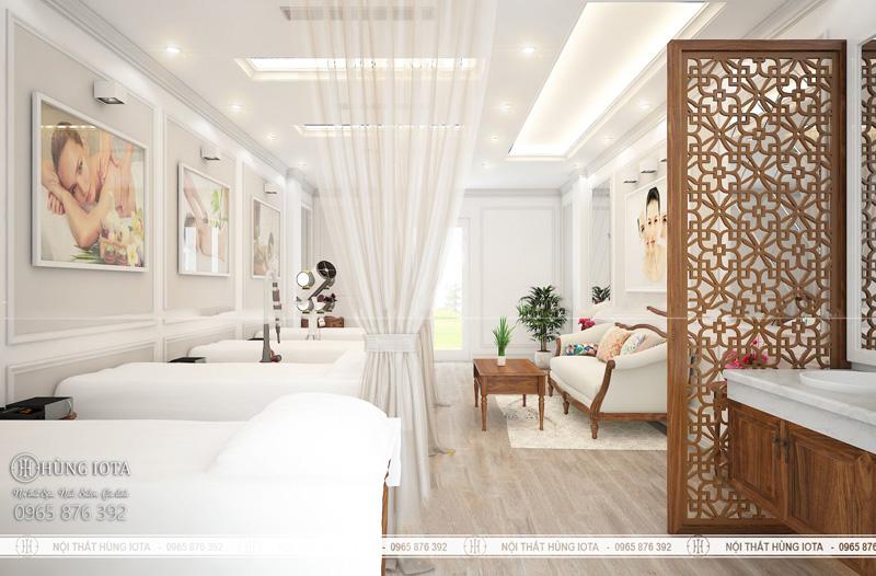Phối cảnh 3d nội thất spa tại thị trấn Ứng Hòa, Vân Đình