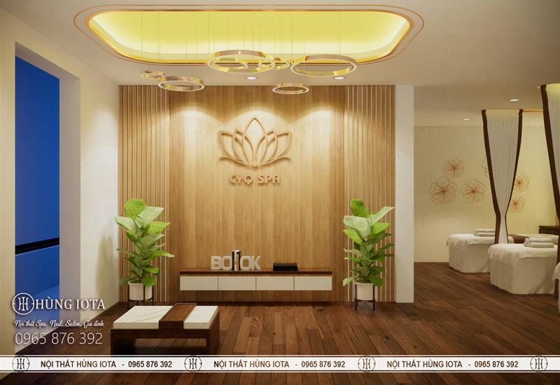 Phòng khách CYQ spa 2 tầng