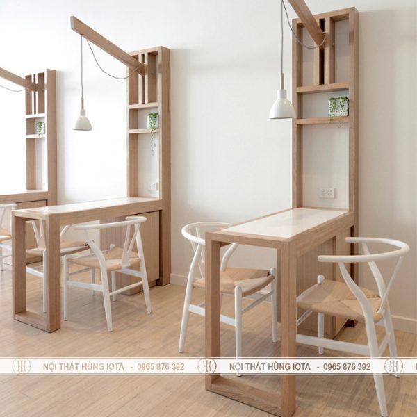 Bàn nal gỗ có đèn mặt bàn chống xước