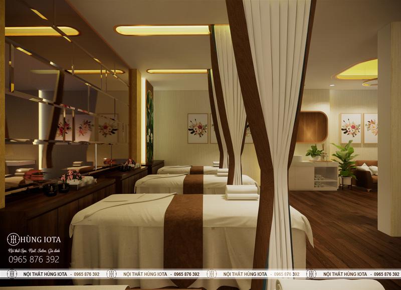Giường massage body spa giá rẻ màu gỗ tối
