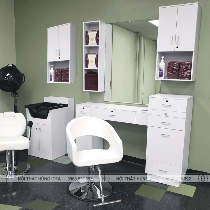 Combo gương cắt tóc và tủ gương cắt tóc hình chữ u đẹp giá rẻ