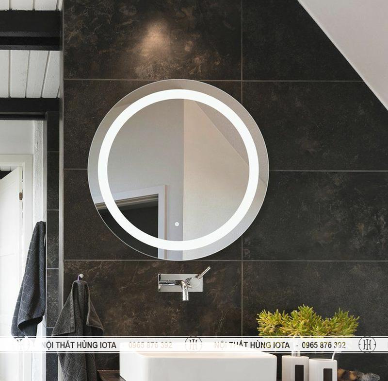 Gương cắt tóc có đèn xung quanh gương cho salon tóc, nhà tắm