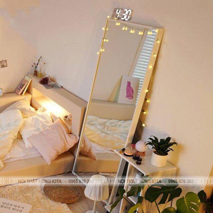 Gương soi toàn thân khung gỗ hình chữ nhật đẹp giá rẻ