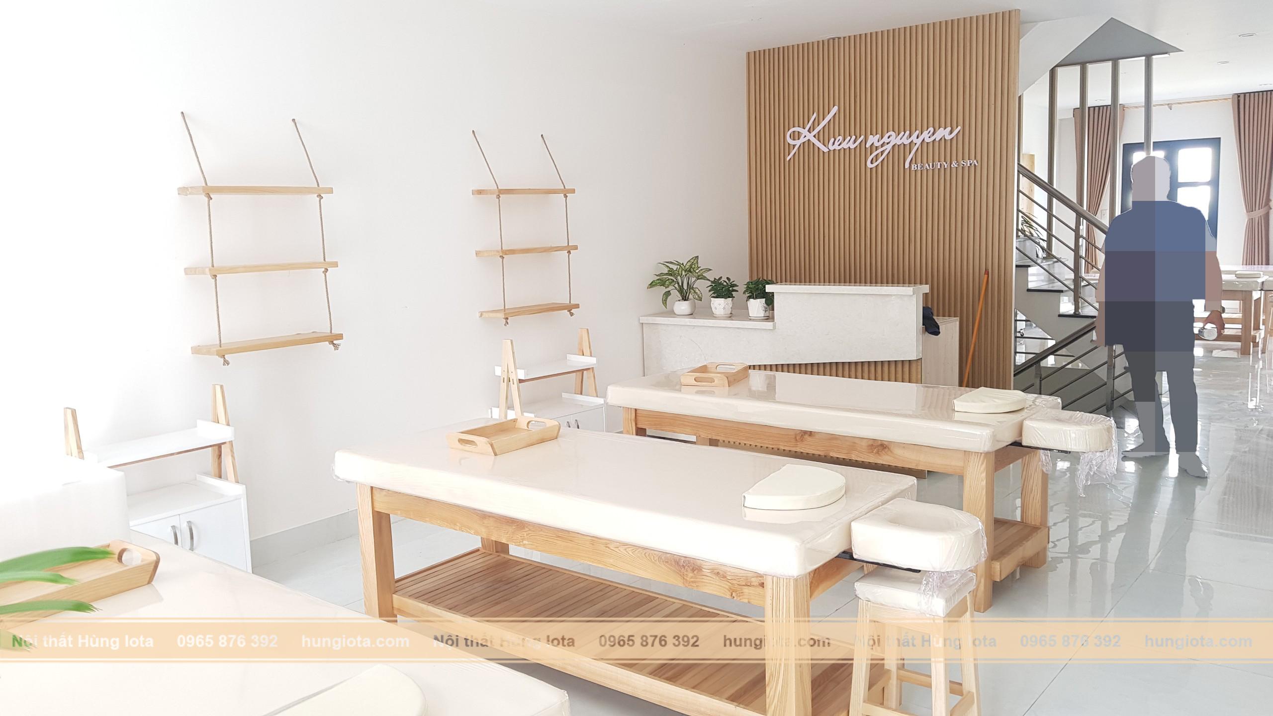 Nội thất spa decor cho Kiều Nguyễn Beauty & Spa ở Vincom Đồng Hới, Quảng Bình